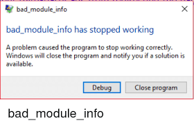 Bad Module Info Error Fix
