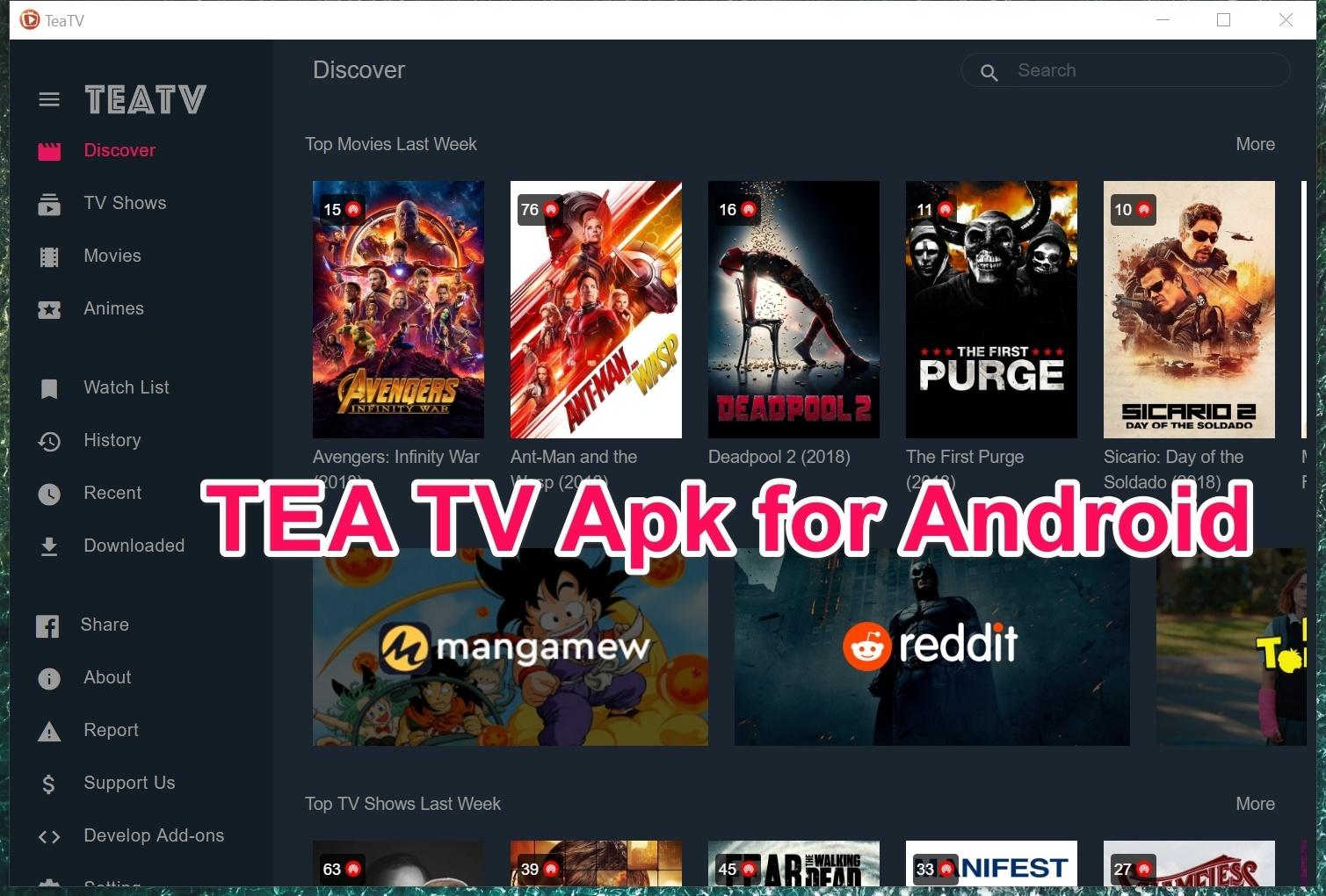 Download TeaTV Apk v7 1r for Android  [Best Terrarium TV