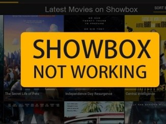 ShowBox App not Working