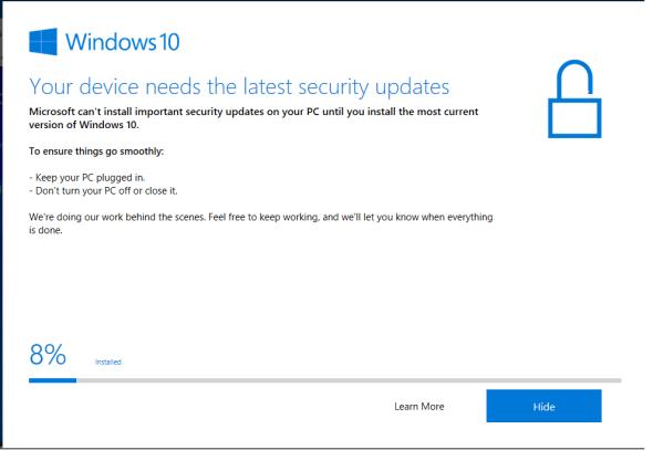 Windows 10 1903 Update assistant