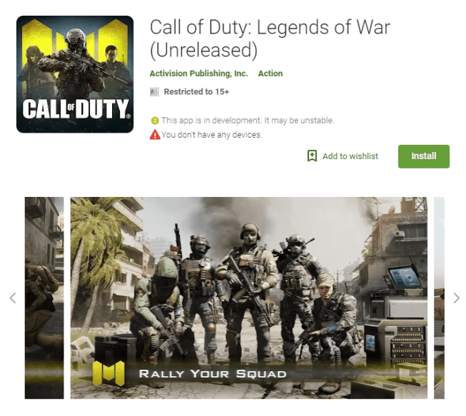 Call of duty Legends of War Apk Android