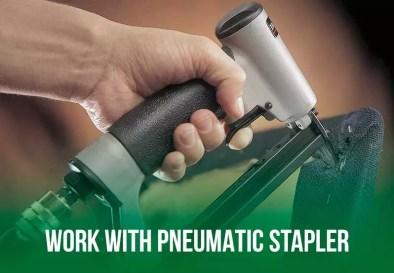 work with staple gun