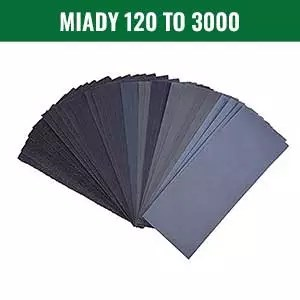 Miady 120 To 3000 Assorted Grit Sandpaper