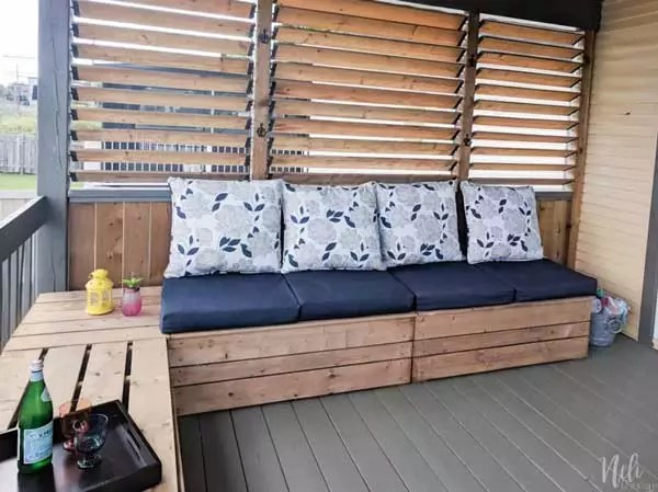 Outdoor Modular Bench With Storage