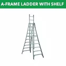 A-Frame Ladders With Shelf For Paint Can