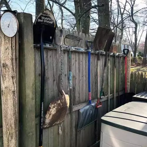 Build Rack Into The Fence