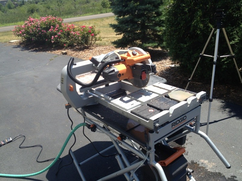 ridgid tile saw 24 tools in action