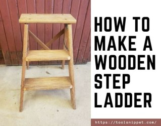 how to make a wooden step ladder