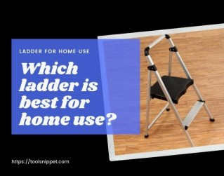 Ladder for home use