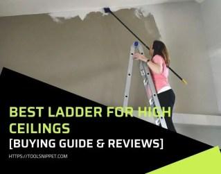 Best Ladder for High Ceilings