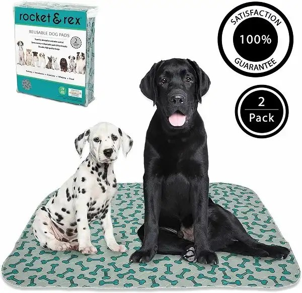 rocket & rex Washable, Puppy Pee Pads. Waterproof, Pet Training Reusable Pads