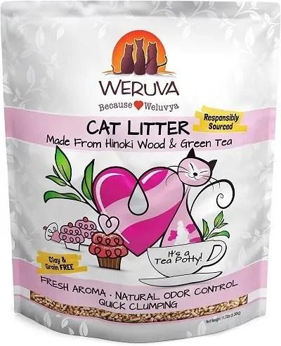 Hinoki Wood & Green Tea Natural Cat Litter by Weruva
