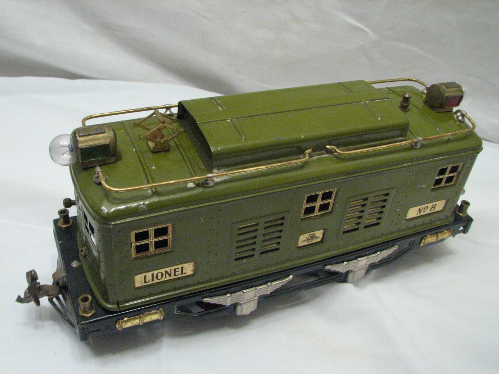 Set Lionel Pre War No 8 Train Engine W Pullman 337 Passenger 338 Observation Car