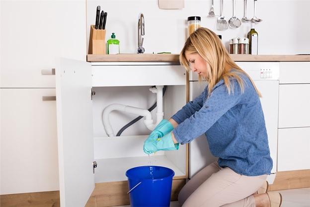lady plumbing work