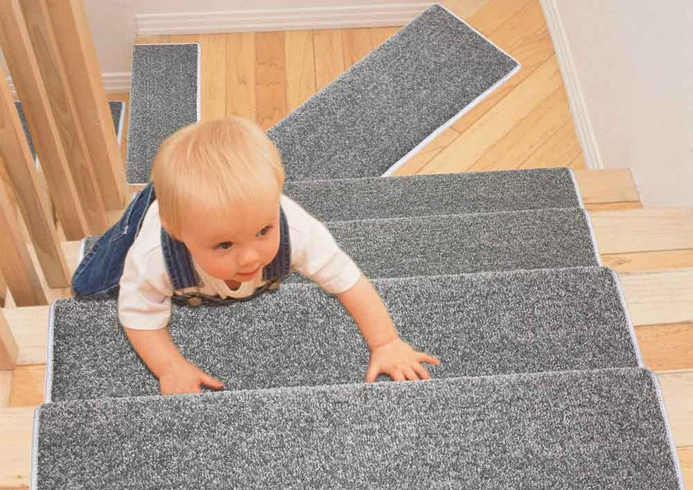 Top 11 Best Stair Treads 2020 Toolzview   Thick Carpet Stair Treads   Non Slip   Cut Pile   Bullnose Carpet   Slip Resistant   Flooring