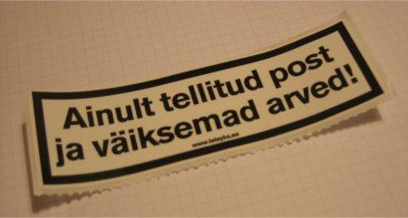 TeleYks: ainult tellitud post ja väiksemad arved!