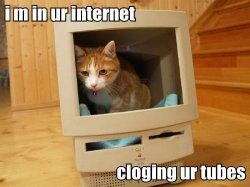 i m in ur internet   …cloging ur tubes