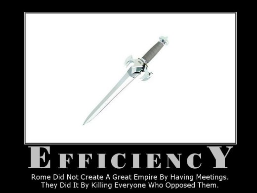 Demotivational: efficency
