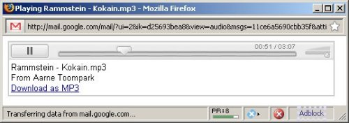 Gmail - MP3 mängija