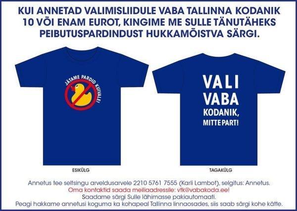 Vaba Tallinna Kodanik särk