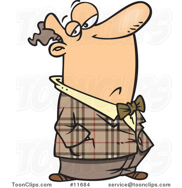 Cartoon Snobbish Guy With His Nose In The Air 11684 By