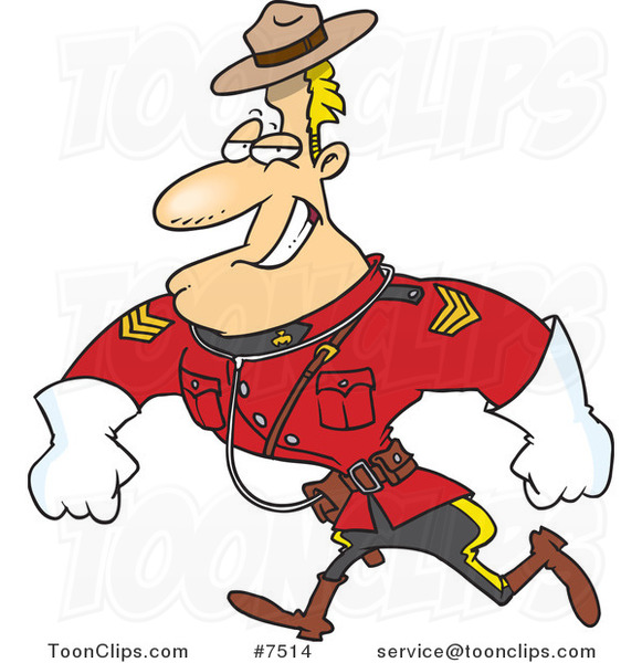 Cartoon Strong Mountie 7514 By Ron Leishman