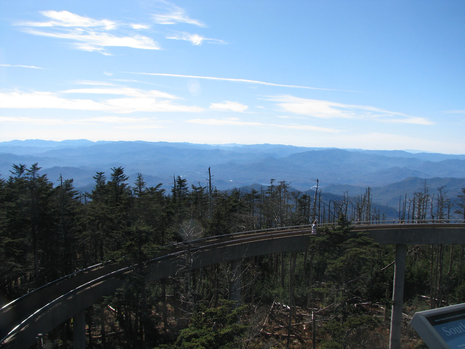 Looking south towards Brasstown Bald - the tower ramp is in the foreground