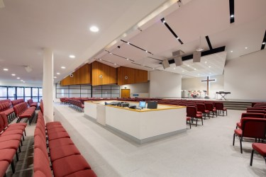 Auditorium has state of the art acoustics and sound system perfect for any conference or presentation.