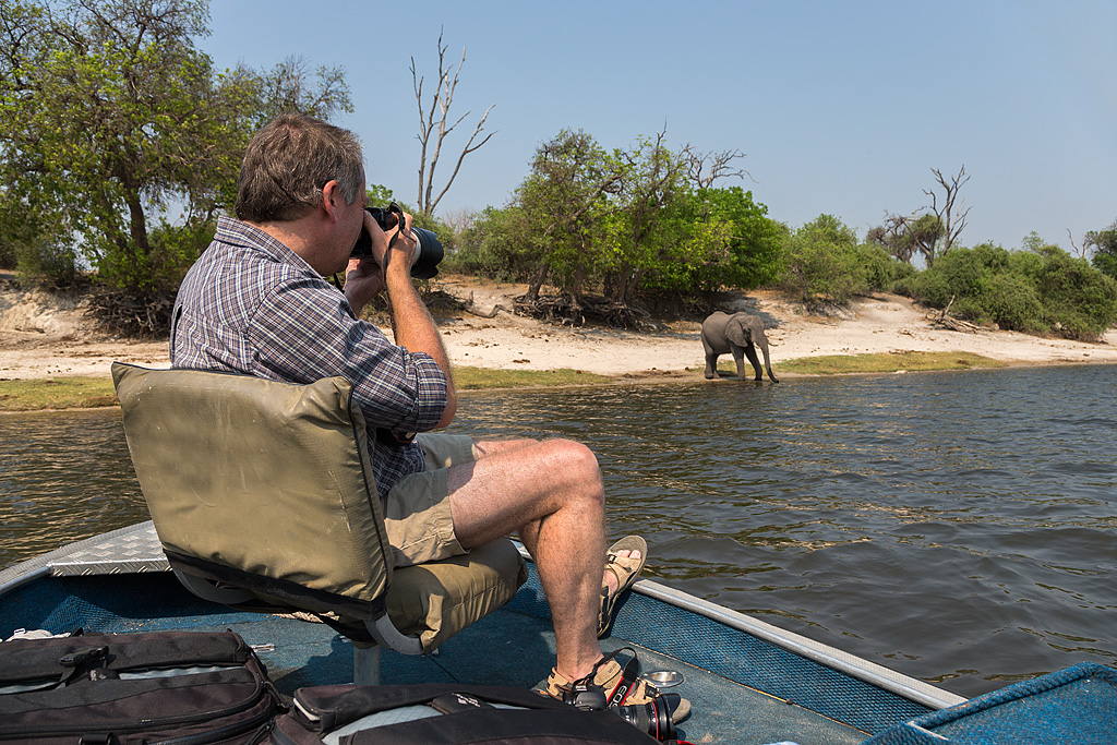 Steve photographing on Chobe river
