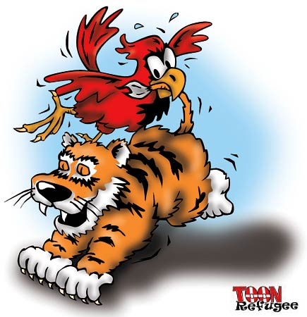 The Cardinals taming the Tigers