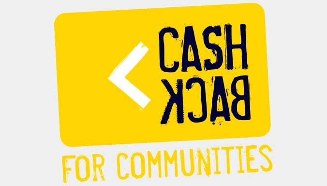 cash back for communities logo