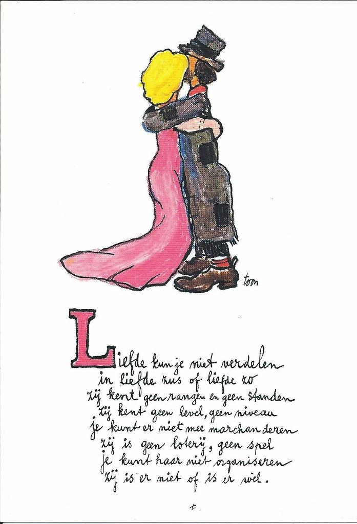 Ansichtkaart Liefde Kun Je Niet