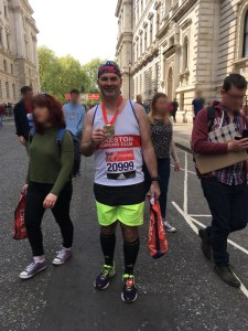 Edward Buda with London Marathon Medal