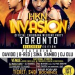 Microbell Media Group (MMG) Announces Caribana Weekend HKN INVASION Event – Featuring DAVIDO, B-RED, Sina Rambo and DJ OLU in Toronto – August 1st, 2015