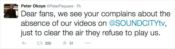 P-Square Tweet