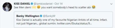 BankyW Kiss Daniel 2 Kiss Daniel Is One Of My Favourite Nigerian Artistes Of All Time – Banky W