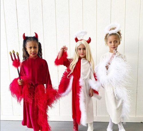 Kanye West's Daughter, North West Dresses As The Devil For Halloween « tooXclusive