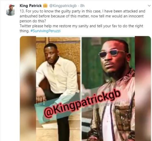 """Davido & Peruzzi Are After My Life After Betraying Me""- Golden Boy CEO; Patrick Cries Out « tooXclusive"