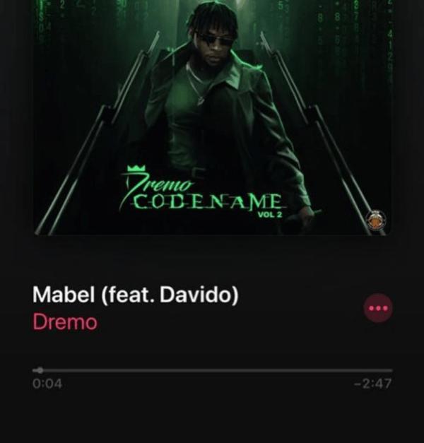 "Dremo - ""Mabel"" ft. Davido"