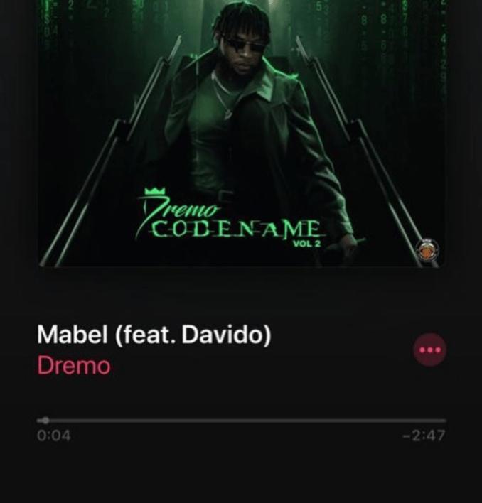 "Dremo – ""Mabel"" ft. Davido"