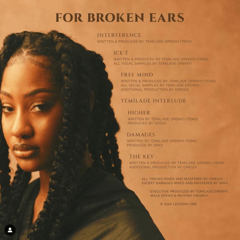 Tems For Broken Ears Tracklist
