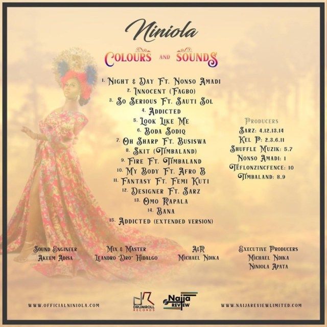 Niniola Colours And Sounds Tracklist