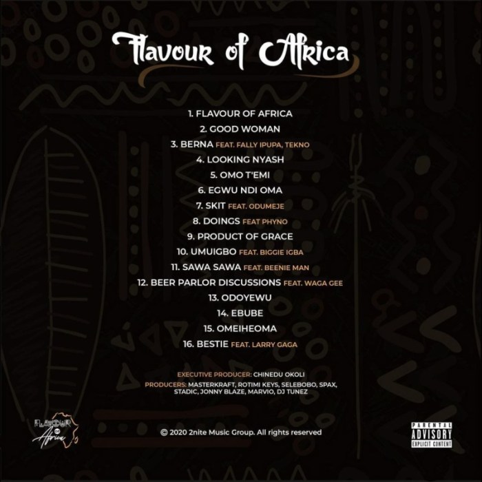 "[Album] Flavour – ""Flavour of Africa"" ft. Fally Ipupa, Tekno, Phyno & More 4"