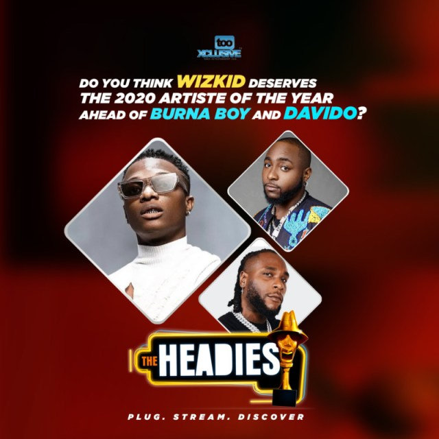 Do You Think Wizkid Deserves The 14th Headies Artiste Of The Year Award, Ahead Of Burna & Davido? 1