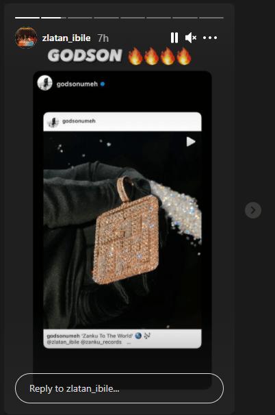 Ice On His Neck: Zlatan Splurges Millions On Customized Zanku Record Pendant 4