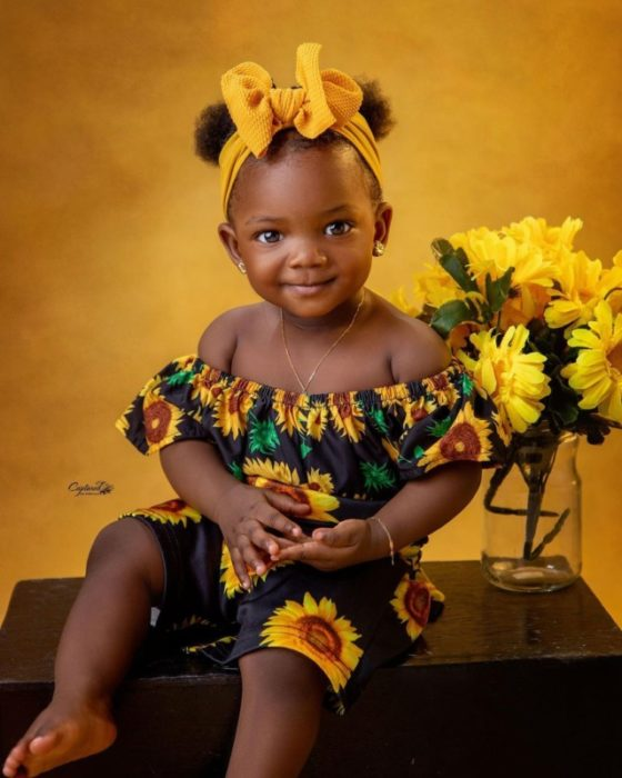 Finally Adekunle Gold And Simi Shows The Face Of Their Daughter, 'Deja' To The World, Shares Cute Photos 2
