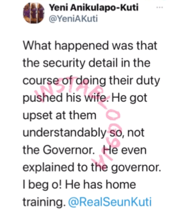Fela's Eldest Daughter, Yeni Reveals What Led To Seun Kuti's Storm Out On Governor Sanwo-Olu 2