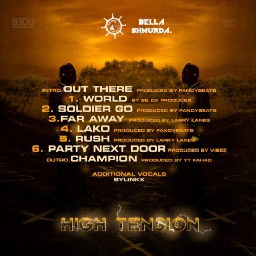 Bella Shmurda High Tension 2.0 Tracklist
