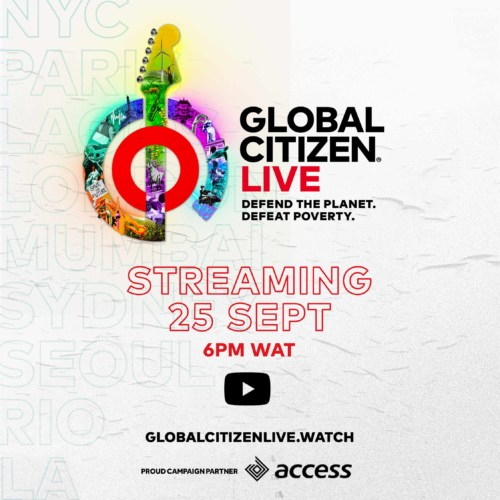 Global Citizen, in partnership with the Lagos Govt, Access Bank, set to host live event amidst campaign to fight poverty 1