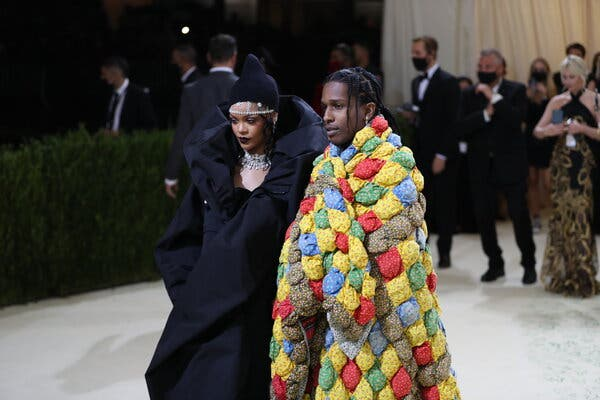 Rihanna And A$AP Rocky Make Red Carpet Debut As A Couple At 2021 Met Gala 1